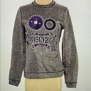 Kenzo sweatshirt size S metallic gray like new